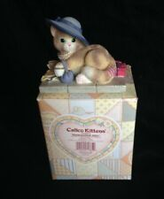 Calico Kittens Resin Figurine Kosmopolitan Kitty Enesco #720844 Mib w/ Papers