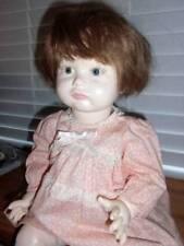 """Sfbj 252 Paris 11 ~ Antique Repro Porcelain Pouty Face Toddler Doll 19"""""""