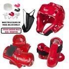 Karate, Taekwondo Sparring Gear set, Head Guard karate Gloves, karate Boots