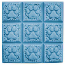 Paw Prints Tray Soap Mold. Melt & Pour, Cold Process w/Instructions