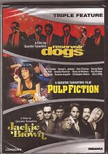 Quentin Tarantino Reservoir Dogs Pulp Fiction Jackie Brown DVD Movie BRAND NEW