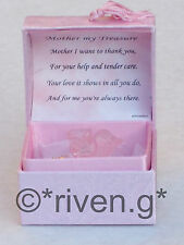 Special MOTHER@Cute ROSES Box@22ct Gold@Treasured MUM Gift@MOTHERS DAY Keepsake