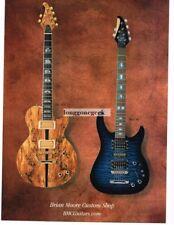 2002 Brian Moore DC-1, C-90 Electric Guitars Vtg Print Ad