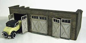 3 STALL GARAGE S Scale Unpainted Unassembled Laser Wood Structure Kit RSMM7304