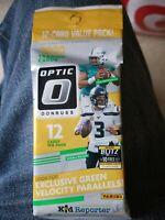 2020 Donruss Optic Football Factory Sealed Value Fat Cello Pack Green Velocity!!