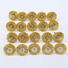 Set of 20pcs Dia 22mm Brass Wire Wheel Brushes Polishing Rotary Tools for Power