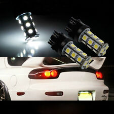 2X 3157 3156 Xenon 6000K White 18-SMD Chip LED Backup Reverse Light Bulbs 12V