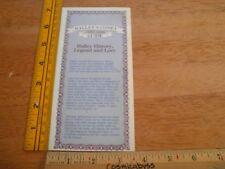 1986 Haley's Comet Guide Vintage Mobil Oil pamphlet promo asteroid