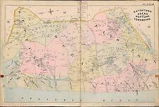 1889 EATONTOWN OCEAN & NEPTUNE TWPs, MONMOUTH, NEW JERSEY, COPY PLAT ATLAS MAP