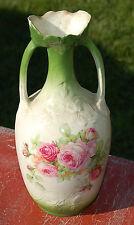 """Karaffe ,Knospenvase,"""" Porzellan, Bisquit """" 22 cm ,Blumen C24"""