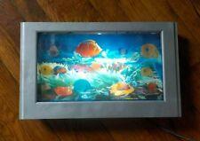 Sea Lamp-15 1/2x10 1/2-Fish/Background Move/Lights Up Like Aquarium/Stands-Hangs