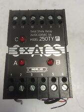 USED INDEL AB 3X ACS ,250TY  P   SOLID STATE RELAY  24VDC / 220VAC 3A   GF