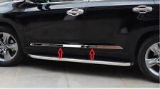 Stainless Steel Body Door Side Molding Trim 4pcs For Toyota Highlander 2014-2019