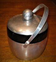 Vintage Kromex Ice Bucket Mid Century Modern Aluminum