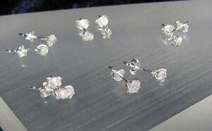 Außergewöhnliche Silber Ohrstecker mit echten Diamanten