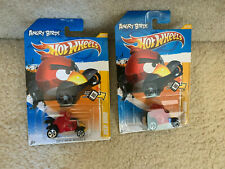 2012 HOT WHEELS NEW MODELS ANGRY BIRDS RED BIRD 1:64 #47 LOT of 2x