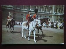 POSTCARD ROYALTY THE QUEEN & PRINCE PHILLIP ON HORSE BACK 1960'S