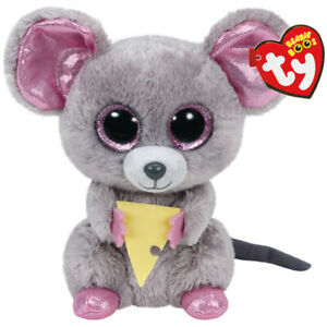 Beanie Boos Regular Plush Squeaker The Mouse With Cheese