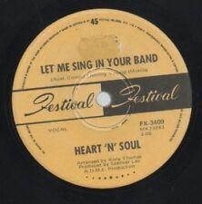 "HEART N SOUL    Rare 1970 Aust Only 7"" OOP Soul Psych Rock Single ""Let Me Sing"""