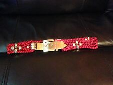 Vintage 1980s G. Gagliano Florence Red & Gold Rope Belt