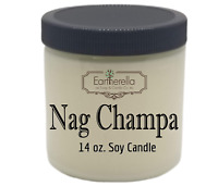 NAG CHAMPA Natural Soy Wax 14 oz. Jar Candle, 90+ hour burn time