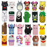 Cute3D Cartoon Funny Animals Silicone Soft Phone Case Cover Back Skin For iPhone