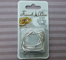 1.8mm thick French Wire Silver Colour Gimp Bullion Wire