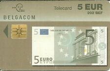 RARE / CARTE TELEPHONIQUE - BILLET 5 EUROS / PHONECARD