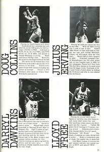 Portland @ Philadelphia 76ers NBA Game Program 3/22/77 Julius Erving MacGinnis