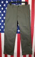 NWD GAP KHAKIS Men's Pants 32x30 33x30 Chino Straight Fit Cotton Flat Front