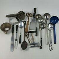 Kitchen Utensils Ladle Masher Cracker Press Plus Much More - Vintage Lot