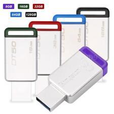 8GB 16GB 32GB 64GB Kingston DT50 USB 3.1 Flash Pen Drive U Disk Memory Stick PC