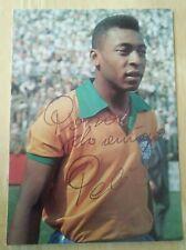 More details for brazil legend pele hand signed original autograph