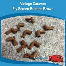 Caravan FlyScreen Clips Brown x 10 Vintage Screen Buttons  Viscount, Franklin