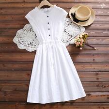 Mori Girl Summer Loose Elastic Dress Women's Sleeveless Lolita Elegant skirt