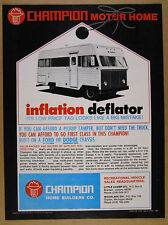 1970 Champion Motorhome RV photo vintage print Ad