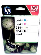 GENUINE ORIGINAL HP 364XL Black Cyan Magenta Yellow 4 Ink Cartridges SET Combo