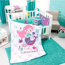 NEW LITTLE MERMAID CUTE CRIB NURSERY BABY GIRLS SET 6 PCS