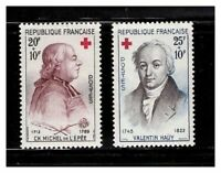 s23379) FRANCE 1959 MNH** Nuovi** Red Cross 2v Y&T 1226/27