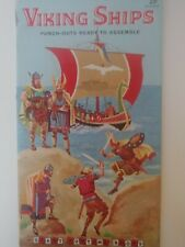 Viking Ships Punch-Out book, unused, vintage 1958