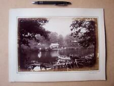 Ruswarp Dam near Whitby     . Victorian Photograph mounted on album card