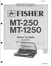 Fisher Service Manual per MT 250/1250