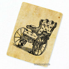 Wheelchair Deco Magnet, Decorative Fridge Refrigerator Antique Illustration