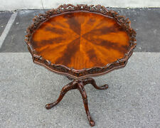 Mahogany pie crust Chippendale Side Table