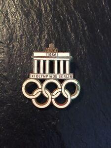 WWII WW2 German 1936 Olympic Members Badge Medal Lapel Pin
