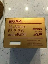 Sigma AF 35-80mm f/4-5.6 Interchangeable Lens For Minolta Filter Size 52