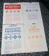 4 Vtg GEORGIA BONESTEEL LAP QUILTING TEMPLATE SETS ~ 16 Uncut Vinyl Patterns!