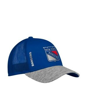 New York Rangers NHL Men's  Adidas Mesh Back Hat, One size, Blue/Heather/Silver