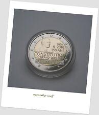 """2 Euro Gedenkmünze Luxemburg Luxembourg 2018 unc. """"150 Jahre Verfassung"""""""