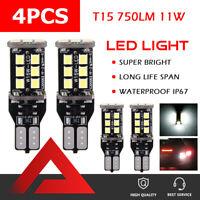 Ampoules Canbus sans erreur de stationnement inversées 4X T15 W16W 921 LED G